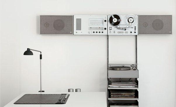 Braun Wandanlage TG45 TG60 und L470 und Plattenspieler