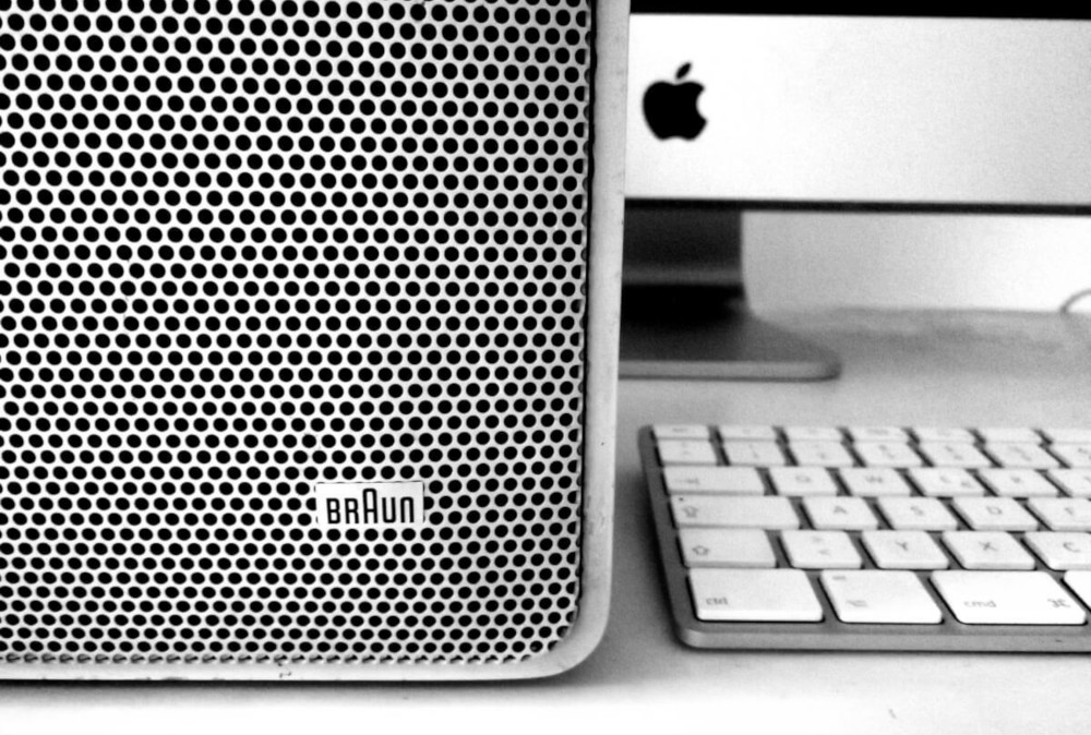 Dieter Rams Braun Audio speaker and Apple Design