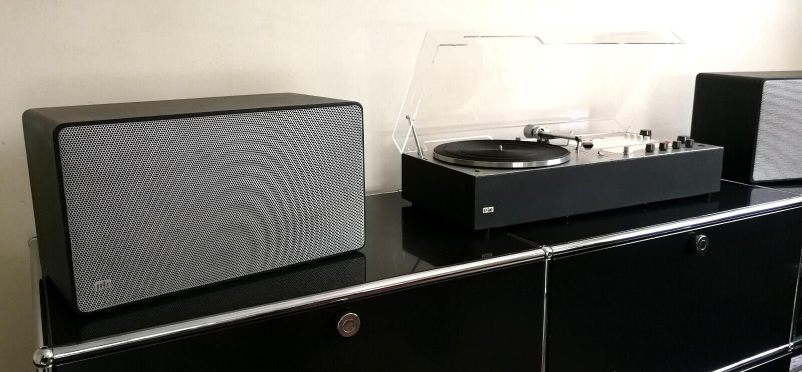 vintage braun audio 310 anthrazit mit L500 lautsprechern schwarz