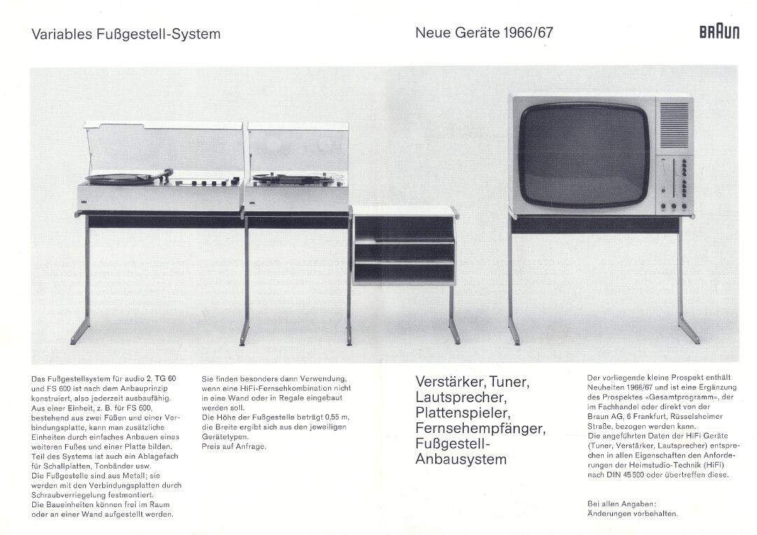 Braun Vitsoe Untergestell Kangaroo Dieter Rams Design Katalog 1966-67