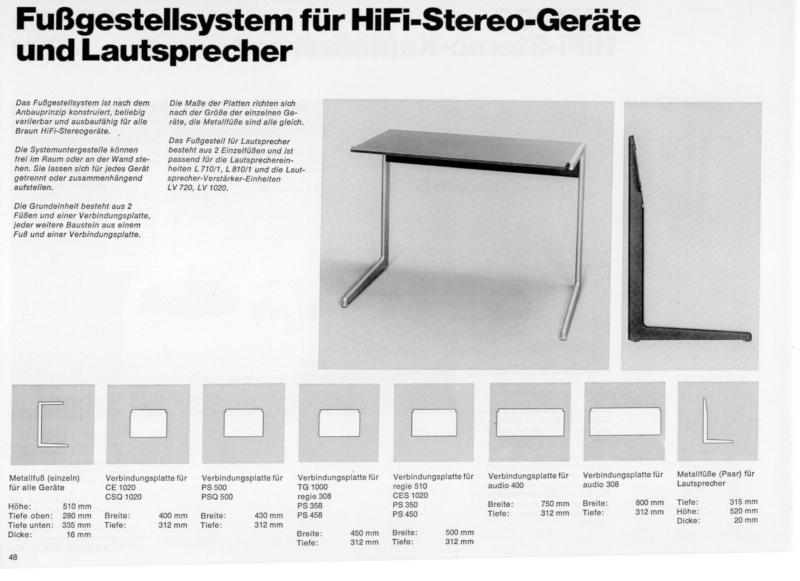 Dieter Rams Kangaroo Hifi Sideboard Zapf Vitsoe Original Catalogue