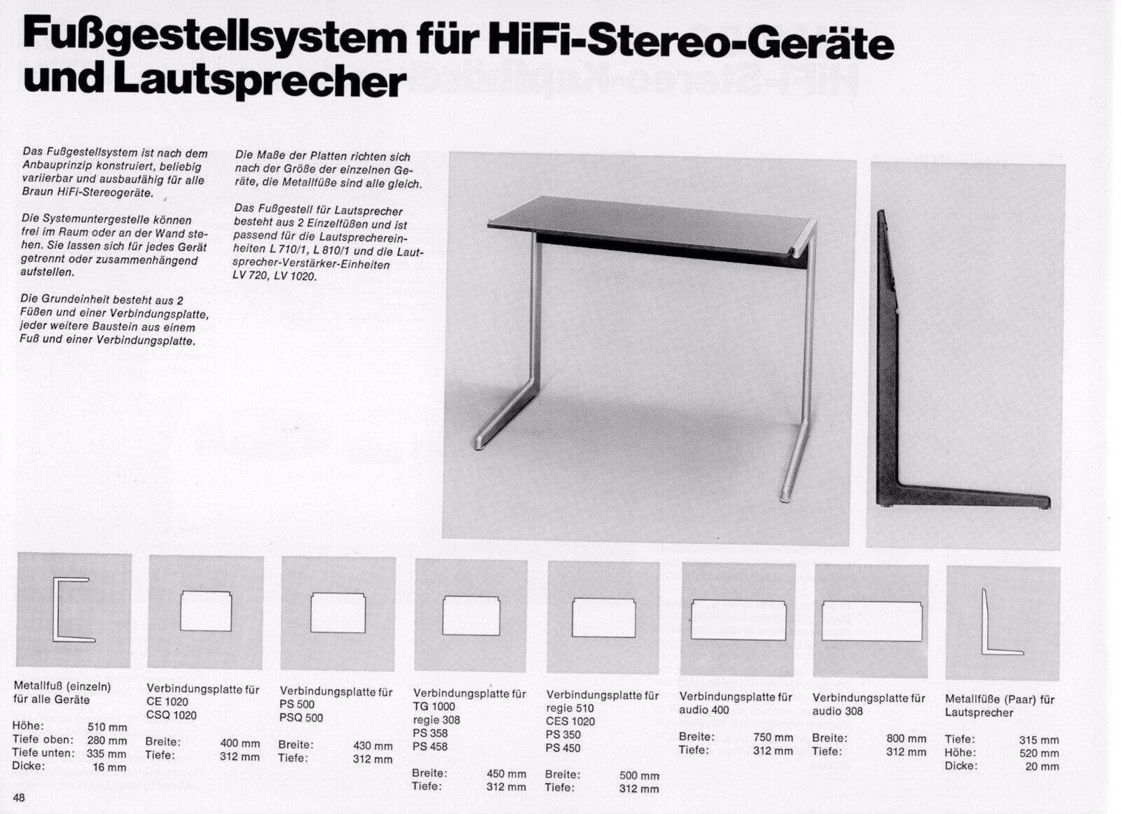 Braun vitsoe side table kangaroo dieter rams design catalogue 1965