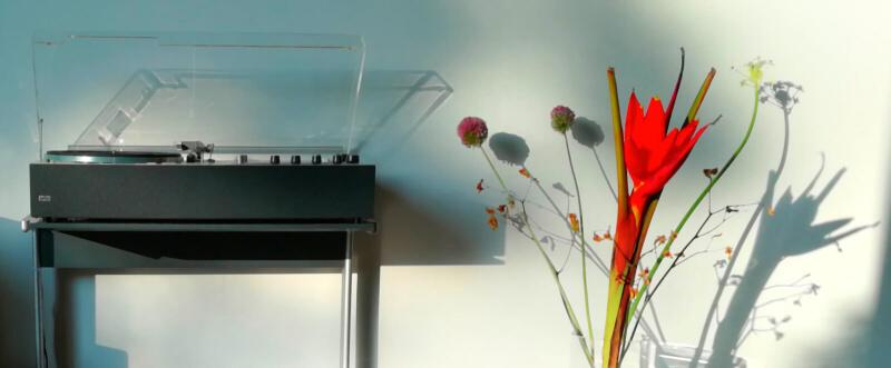 Braun audio 310 antracite on kangaroo hifi side table